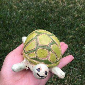 Handmade baby green turtle figure